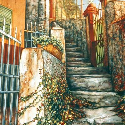 14-Green-Gate-Cinque-Terre-19_-x-27_-watercolour