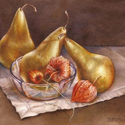 26-Golden-Pears-10_-x-10_-watercolour