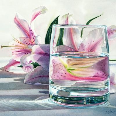 31-Lily-Glass-10_-x-12_-watercolour